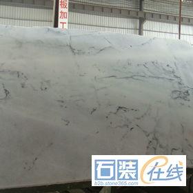 水晶白山水纹大理石