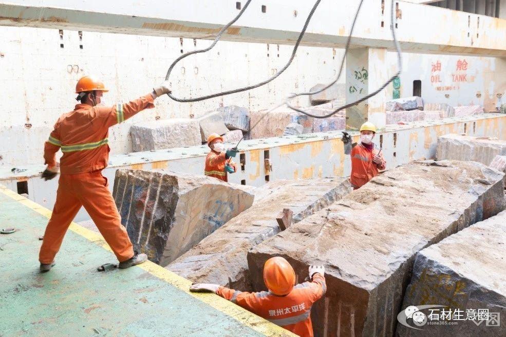 石材产业喜迎开门红 :CSP泉州码头2月完成进口石材超20万吨