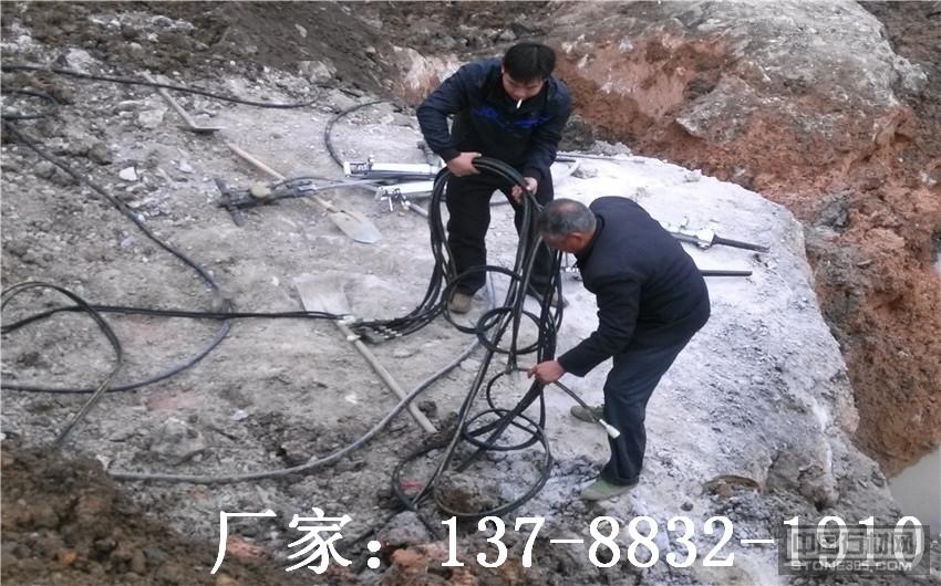 劈裂机开采花岗岩大理石劈裂机