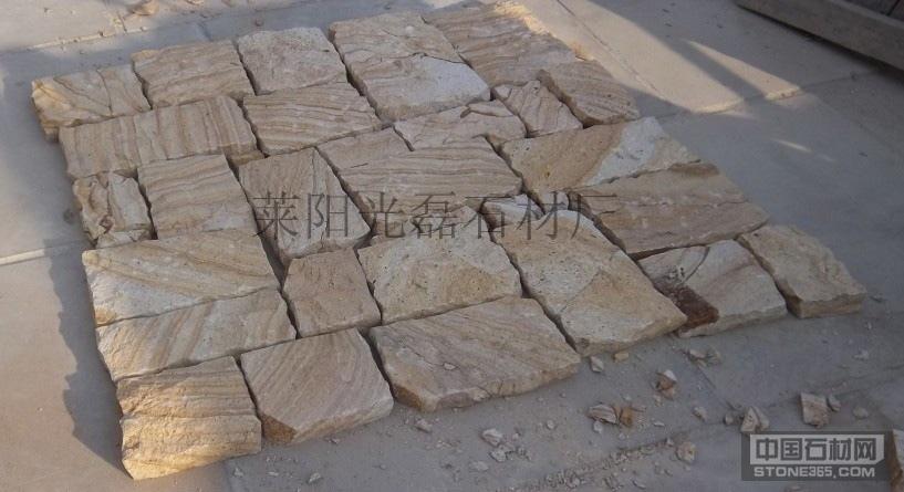 供应黄木纹自然面墙石