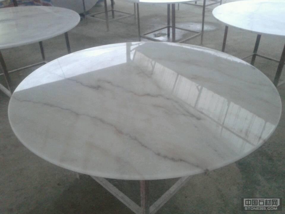 广西白大理石圆桌