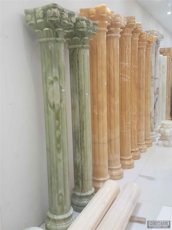 天然玉石羅馬柱、圓柱