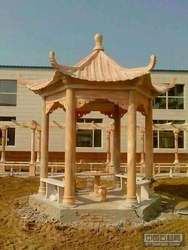 供应公园景观用的石亭子 石凉亭