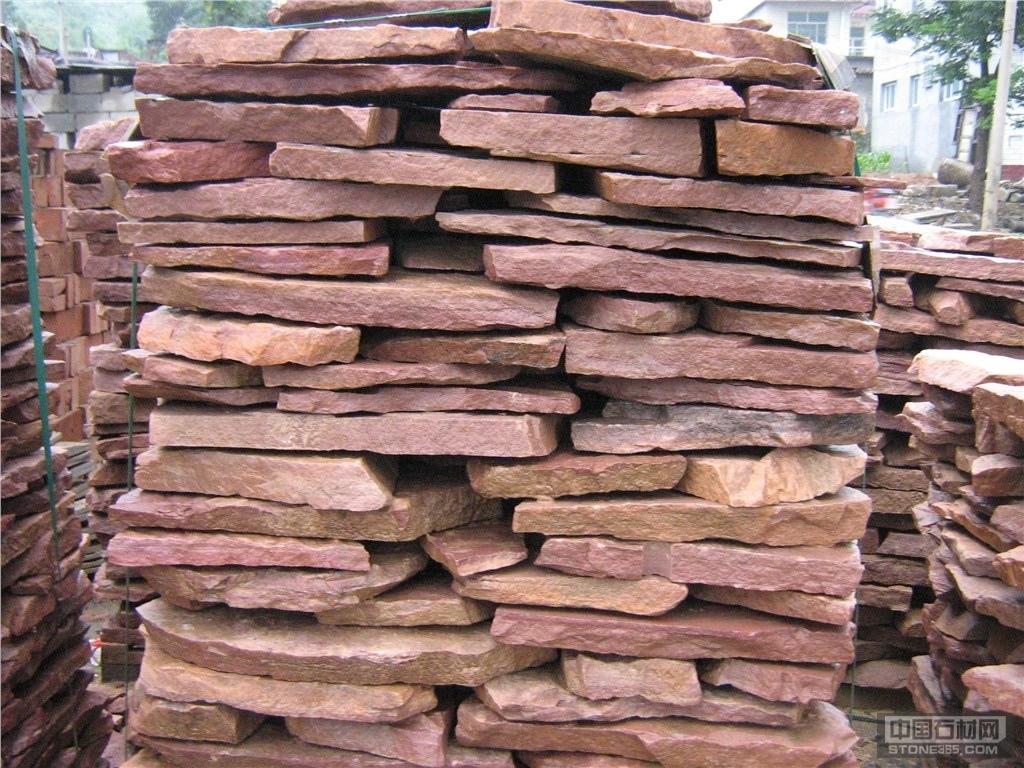 供应红色砂岩乱型石