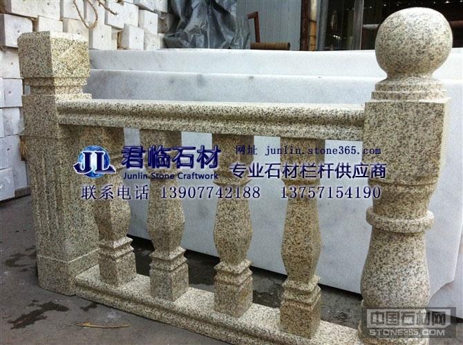 高档别墅装修广西白汉白玉大理石阳台石材栏杆楼梯扶手欧式罗马柱