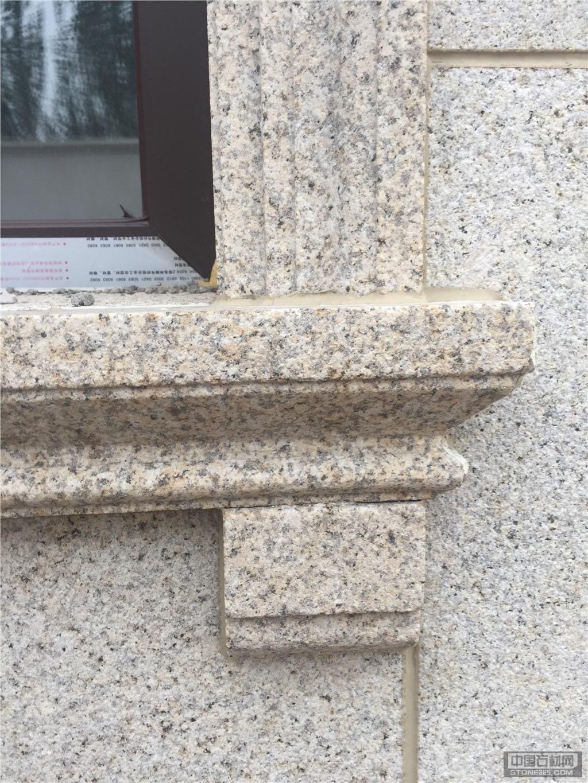黄锈石幕墙 外墙干挂工程案例-中国石材网