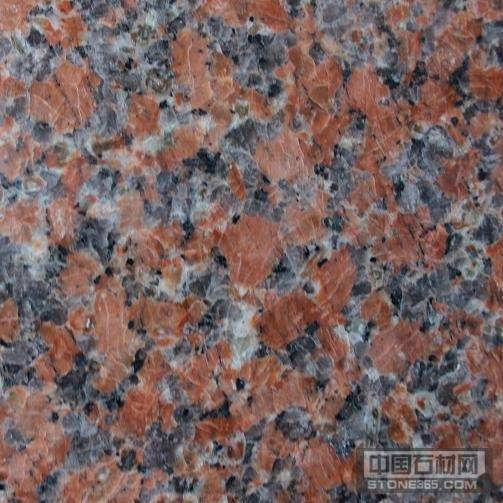 枫叶红光板岑溪红G562石材