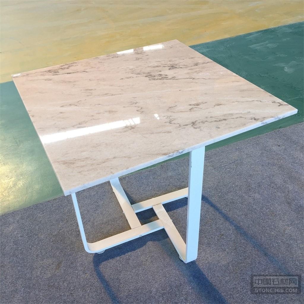 95度白大理石餐桌