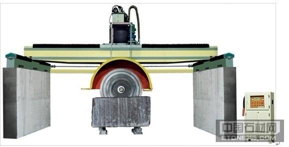 供应桥式双梁柱体导向多片切石机