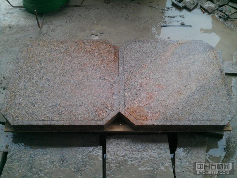 揭阳红锈石拉边槽 环境石材