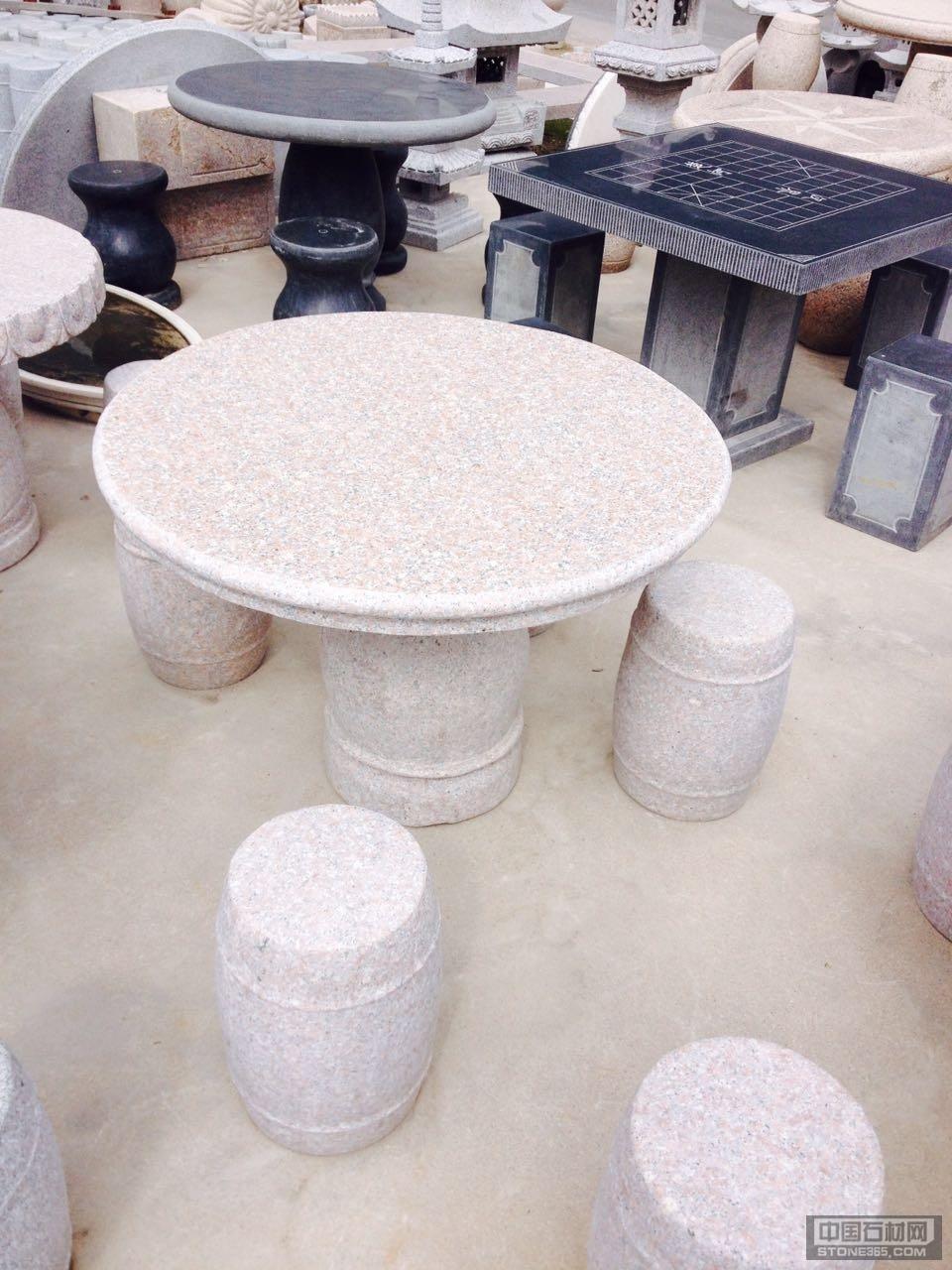 供应五莲红石桌石凳