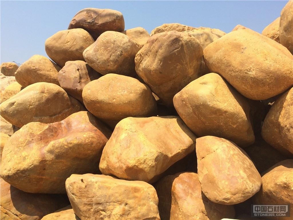 供应鱼池园林黄蜡石 园林点缀石