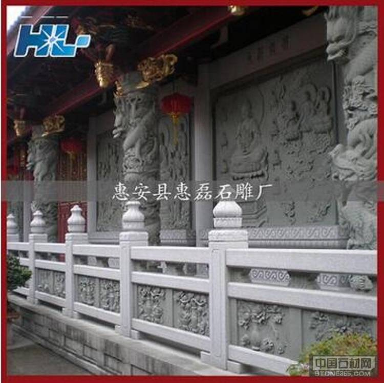 福建石雕栏杆 寺庙栏杆雕刻