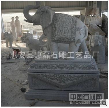 石雕厂家专业提供花岗岩园林大象