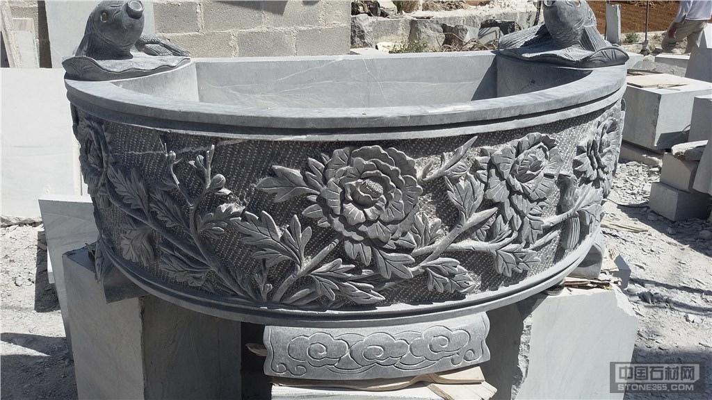 供应石雕艺术聚宝盆