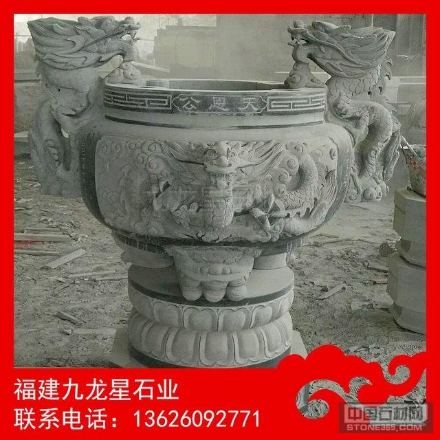石雕香炉加工厂 优质芝麻黑香炉