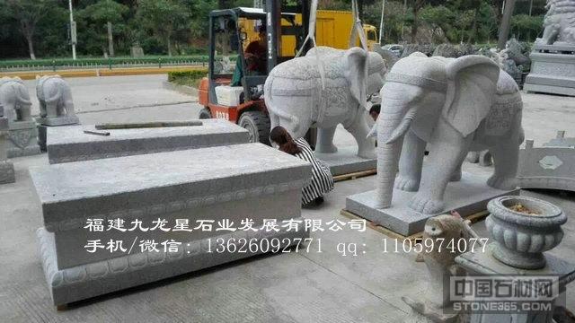 招财石雕大象 惠安石雕大象出售