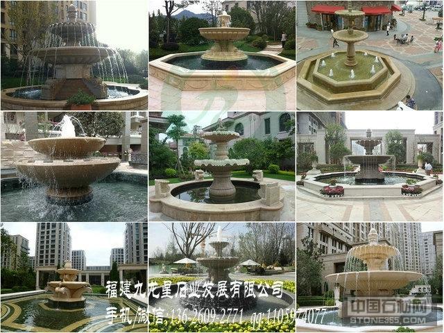 房地产石雕水钵 石雕喷泉厂家
