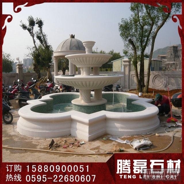 供应石雕水钵花钵石雕花盆喷泉