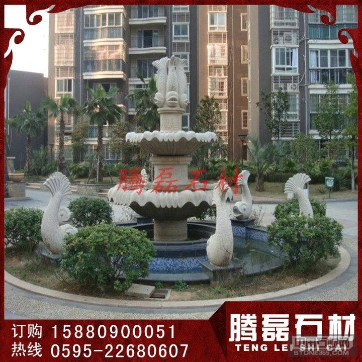 广场石雕水钵 石材喷泉定做
