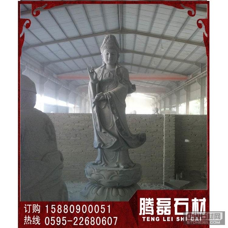 优质青石石雕观音雕刻厂家出厂价