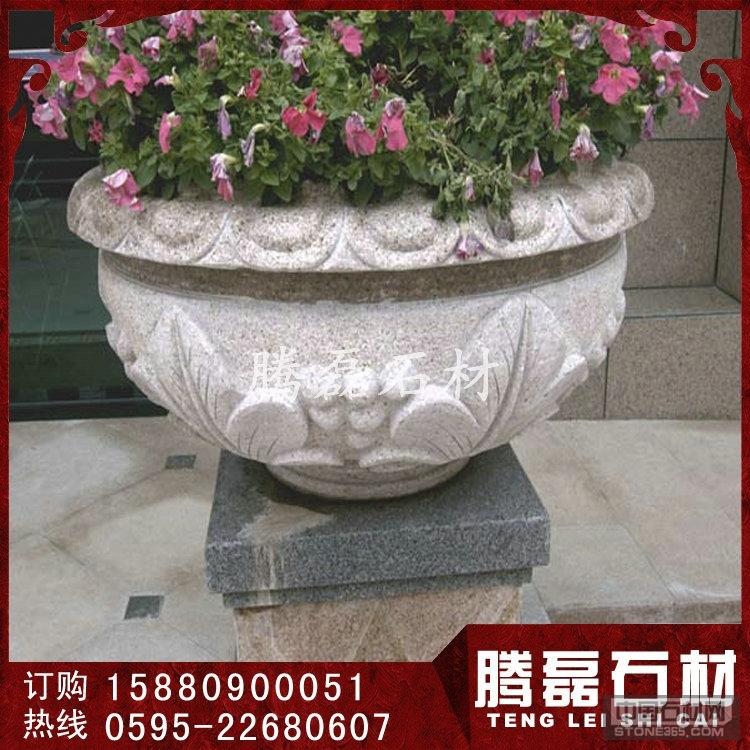 园林石雕花砵 花岗岩花钵价格