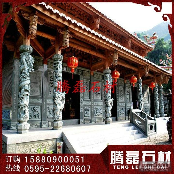 寺庙石雕龙柱5米青石石雕龙柱