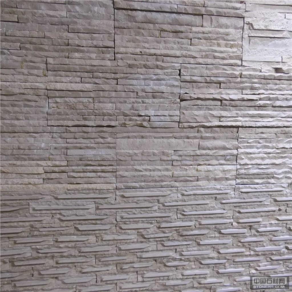 石灰石古典米黄文化石背景墙外墙
