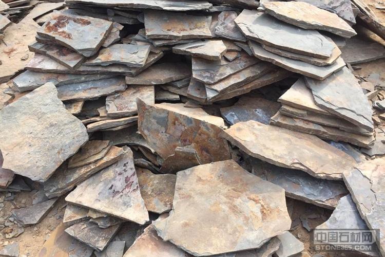 板岩文化石 锈板乱形 护坡片石