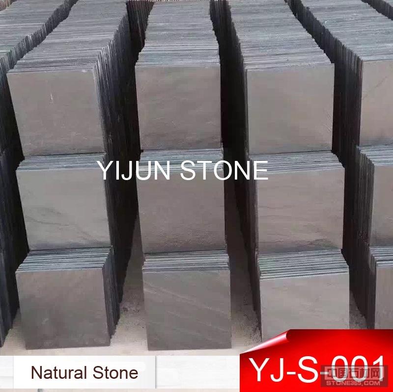 黑板岩铺地石 规格板文化石