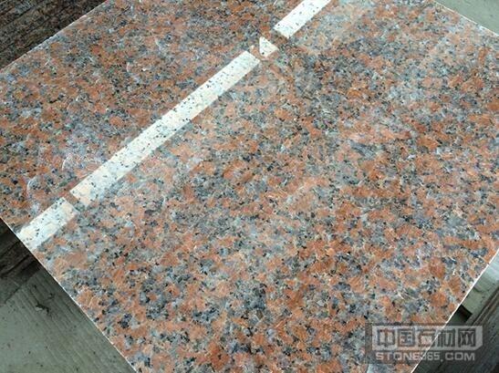 供应枫叶红花岗岩出口规格板楼梯