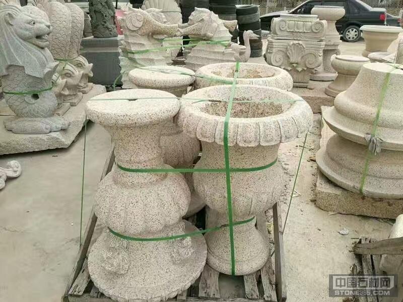 批發優質黃銹石花瓶花缽