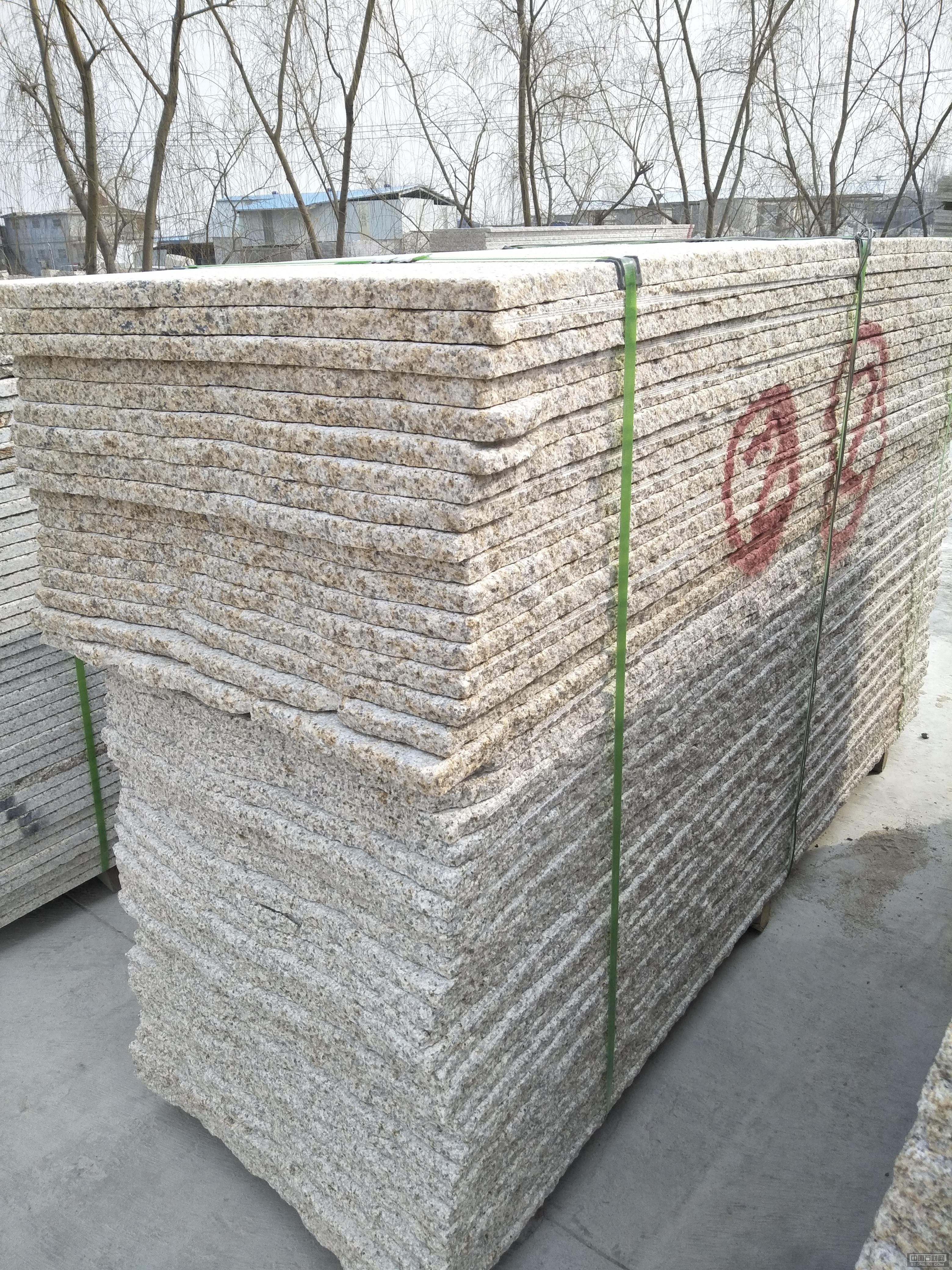 山东黄锈石毛板