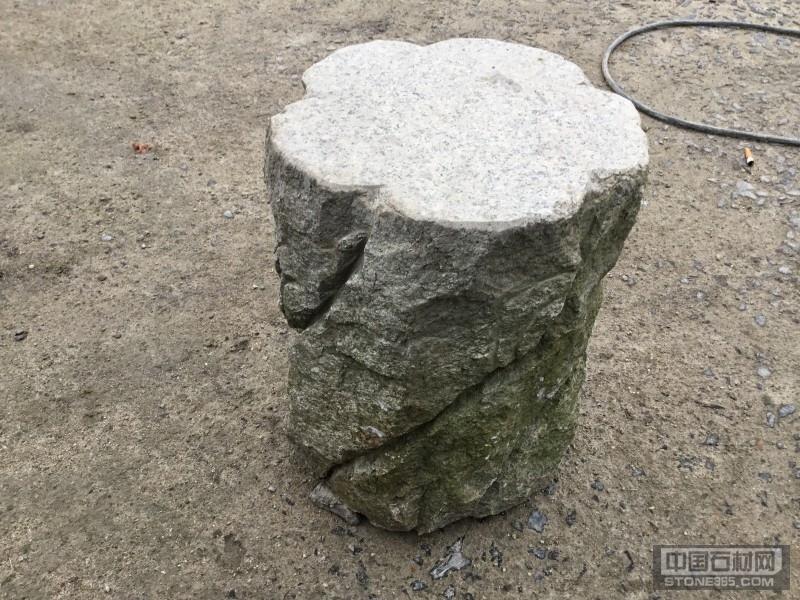 芝麻灰石凳 石材雕刻