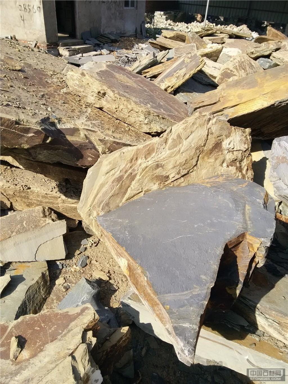供应碎拼石 片岩石 页岩石