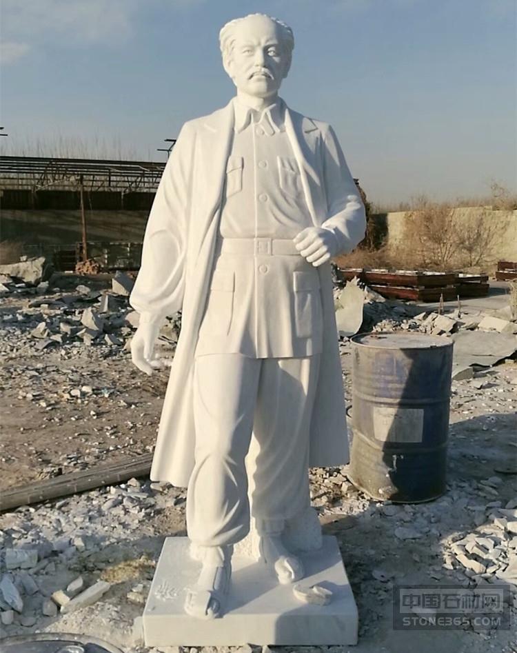 汉白玉白求恩胸像半身像名医雕塑