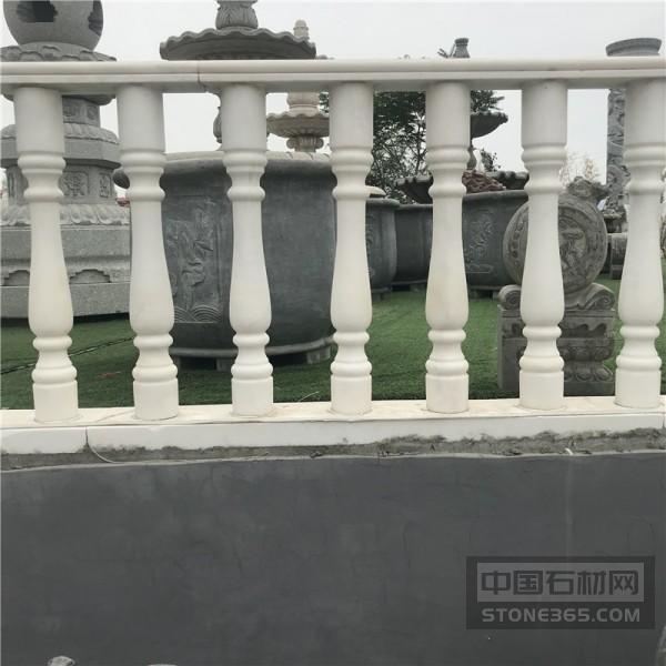 石雕陽臺柱石頭欄桿黃銹石花瓶柱