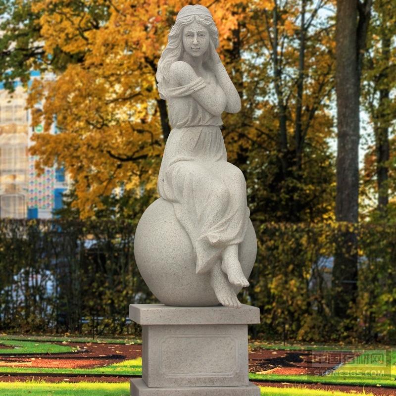 别墅小区公园花岗岩西方人物石雕