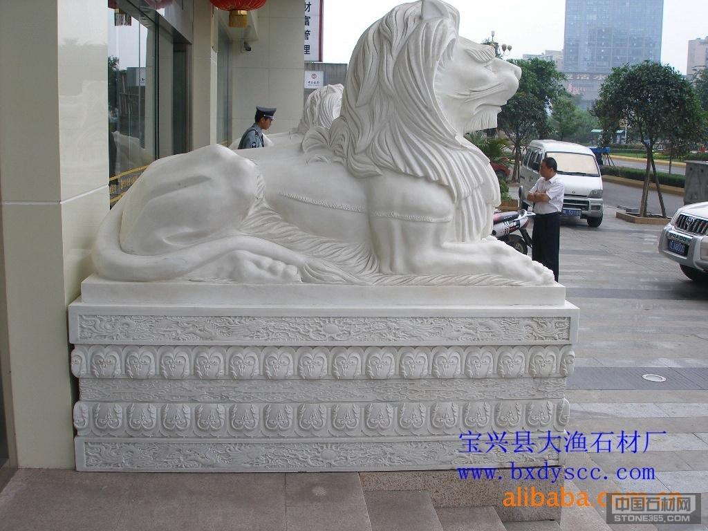 四川汉白玉非洲狮子