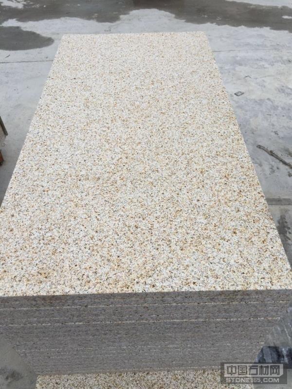 山东黄锈石荔枝面板材