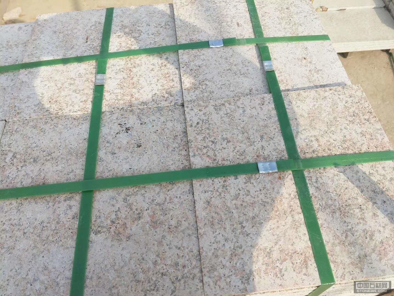 山东黄锈石火烧面规格板材