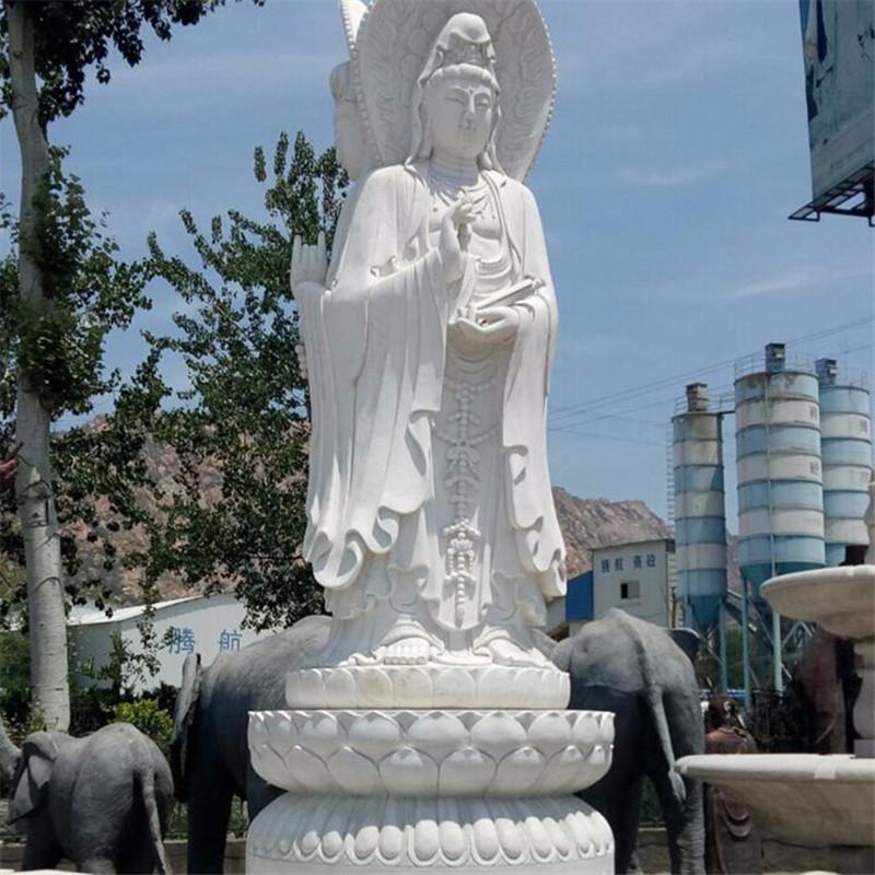 石雕三面观音寺庙供奉佛像人物