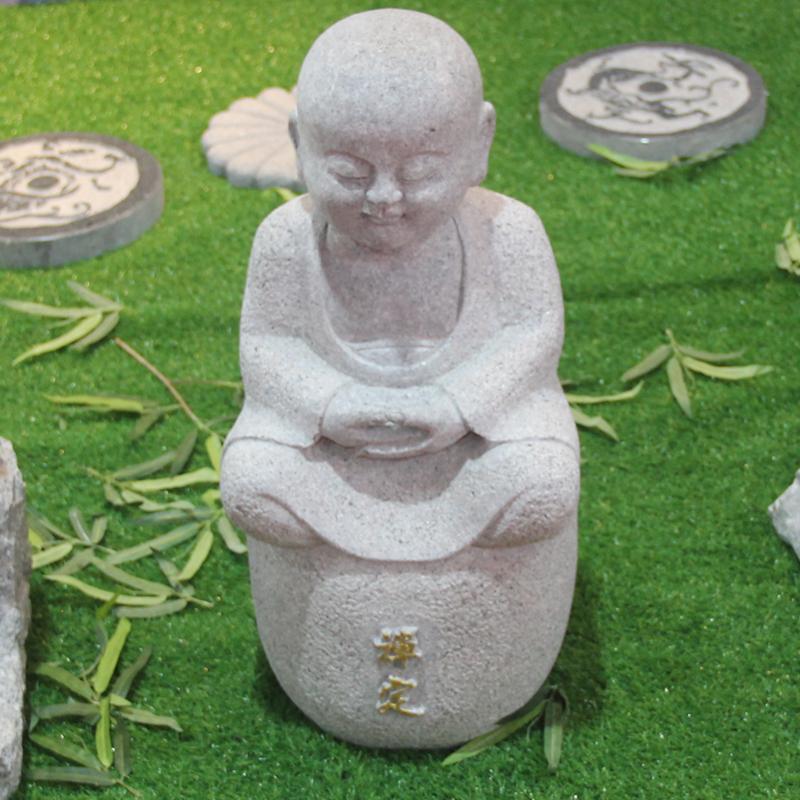 花岗岩小和?#20852;?#24217;园林装饰佛像