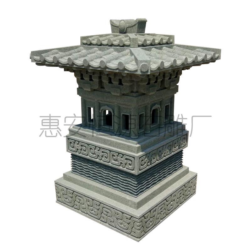 供应石雕香炉 寺庙摆件石塔石灯