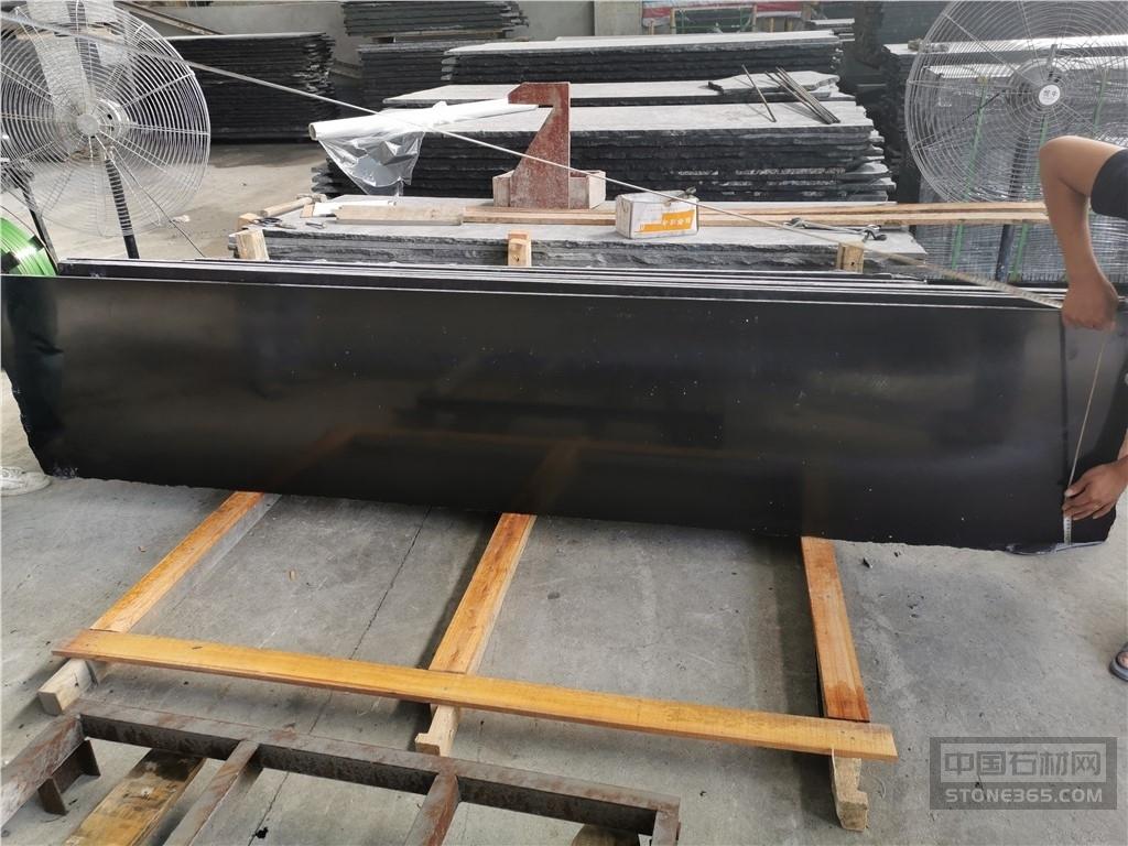 蒙古黑中国黑石材长毛光板
