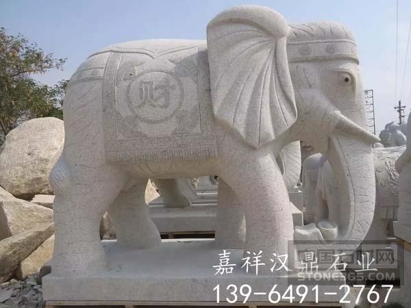 定制石雕大象花岗岩大象