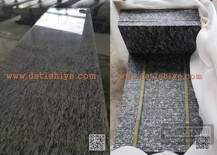 广东浪花白G4418毛光板石材