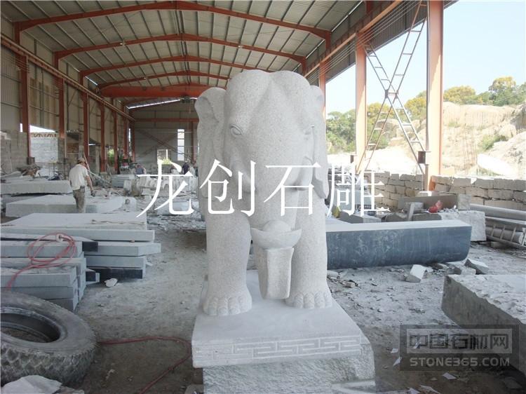 供应惠安石雕大象 石雕大象厂家