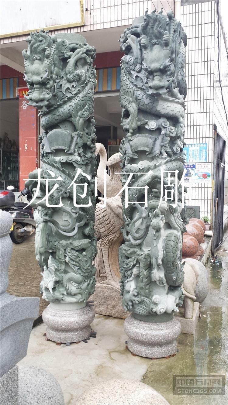 石雕龙柱厂 龙柱石雕价格