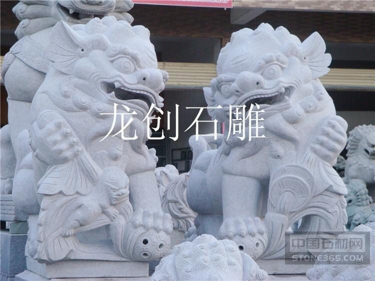 汉白玉石狮子价钱 青石狮子厂家